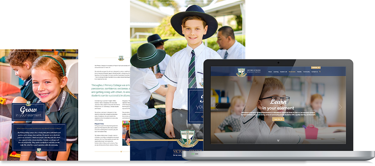 School prospectus and website designed by education marketing experts